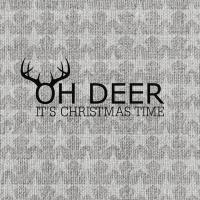 Cocktail Servietten Oh Deer, silver