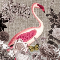 Lunch napkins Flamingo Sepia