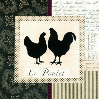 Lunch napkins Le Poulet