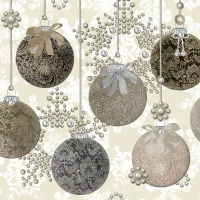 Serviettes lunch Baubles Royal