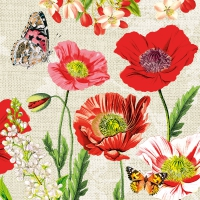 Lunch napkins Poppy Field