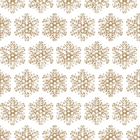 Lunch napkins Snow Crystal gold