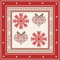 Serviettes lunch Winter Embroidery