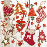 Lunch napkins X-mas Tags