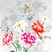 Napkins 33x33 cm - Flower Silhouette