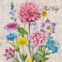 Napkins 33x33 cm - Floral Vintage