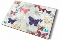 Cork placemats Romantic Butterflies