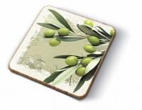 Posavasos de corcho Greek Olives