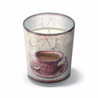 Velas en un vaso Coffe Meeting