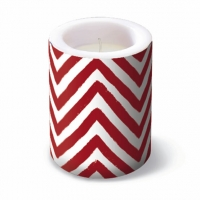 Candles Lantern Big Chevron