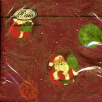 Lunch Servietten Santa Claus dark red