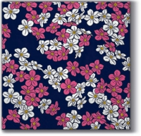 Serviettes de table 25x25 cm - Tapis Floral (violet)
