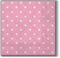 Servilletas 25x25 cm - Lunares rosa