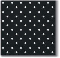 Servilletas 25x25 cm - Lunares negro