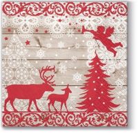 Cocktail napkins Christmas Forest