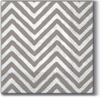Servilletas Cocktail Big Chevron grey K