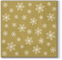 Serviettes cocktail  Stars Everywhere (gold)
