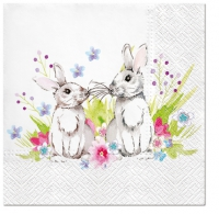 Serviettes lunch Bunnies in Love