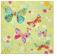 Serviettes lunch Butterflies around