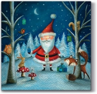 Lunch napkins Santa and Friends
