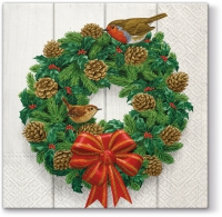Serviettes lunch Wreath on Door