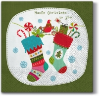 Lunch napkins Funny X-mas Socks