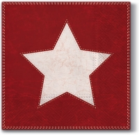Lunch napkins X-mas Star  (red)