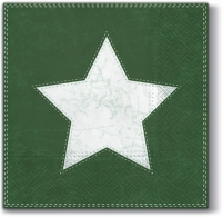 Lunch napkins X-mas Star  (green)