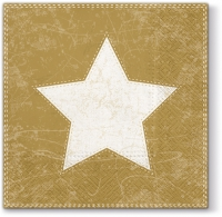 Lunch Servietten X-mas Star  (gold)