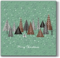 Lunch napkins Snowy Forest (mint)