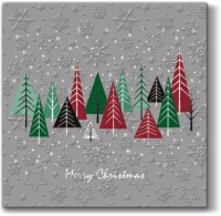 Serviettes lunch Inspiration Winter Flakes Snowy Forest (grey)