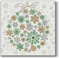 Serviettes lunch Inspiration Winter Flakes Frozen Baubles (mint)