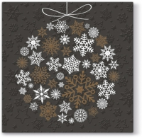 Lunch Tovaglioli Inspiration Winter Flakes Frozen Baubles (copper)