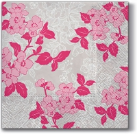 Servetten 33x33 cm - Bloem & Lans (rosa)