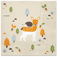 Lunch napkins Autumn Friends