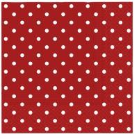 Lunch Servietten Dots red