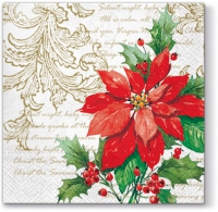 Servilletas Lunch Stylish Poinsettia white