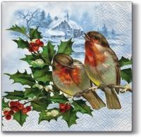 Lunch napkins Winter Bullfinch