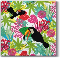 Serviettes de table 33x33 cm - Toucan