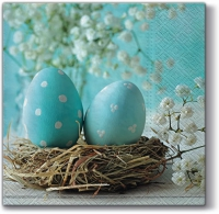 Serviettes lunch Turquoise Easter