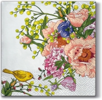 Napkins 33x33 cm - Bird on Flower