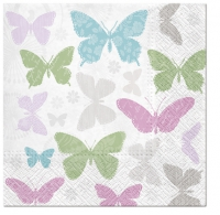 Servilletas 33x33 cm - Mariposas suaves