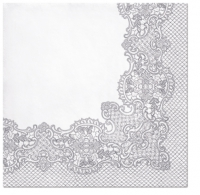 Lunch Servietten Royal Lace (silver)