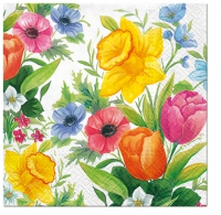 Serviettes de table 33x33 cm - Prairie de printemps