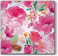 Napkins 33x33 cm - Romantic Diary