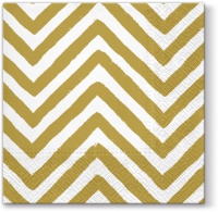 Servilletas Lunch Big Chevron (gold)