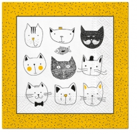 Lunch napkins Funny Cats