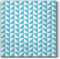 Lunch Servietten Lanes of Triangles (blue)