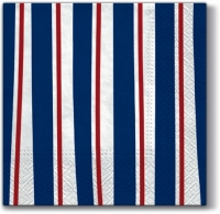 Lunch Servietten Striped Illusion (blue)