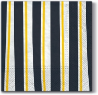 Lunch Servietten Striped Illusion (grey)